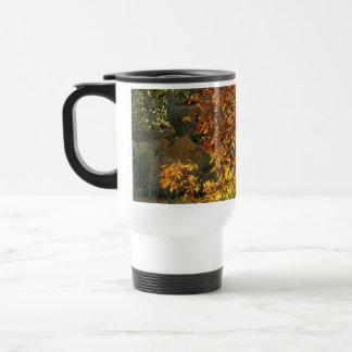 Leaves sea breams of the chestnut tree in autumn i mug