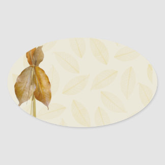 Leaves & Straw Products Oval Sticker