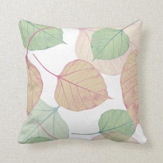 leaves throw pillows