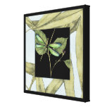 Leaves with Dragonfly Inset by Jennifer Goldberger Canvas Print