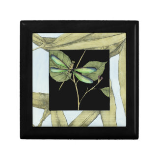 Leaves with Dragonfly Inset by Jennifer Goldberger Trinket Boxes