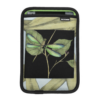 Leaves with Dragonfly Inset by Jennifer Goldberger Sleeve For iPad Mini