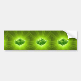 Leaves-with-Green-Light-Burst-Vector-Abstract-Back Bumper Sticker