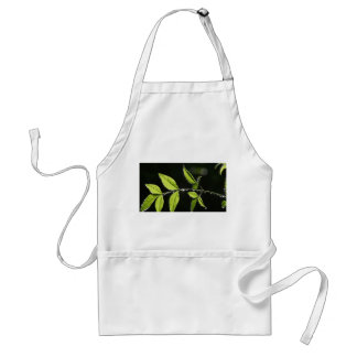 leaves with water drops apron