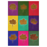 Leaves Wood Poster
