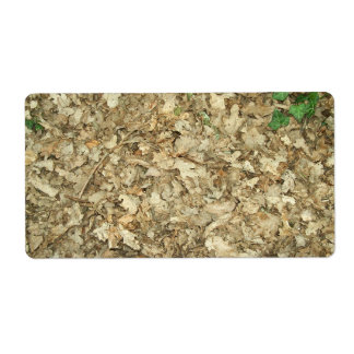 Leaves. Woodland floor. Leafy ground. Shipping Label