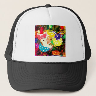 Leaving bunnies from amazing Easter eggs Trucker Hat