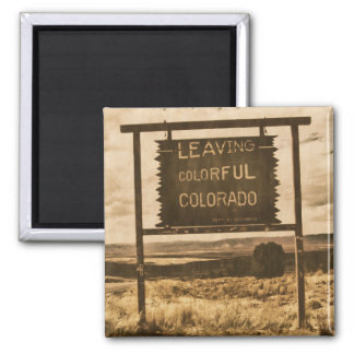 leaving colorful colorado 2 inch square magnet