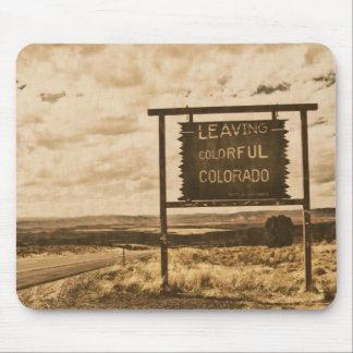 leaving colorful colorado sign mouse pad