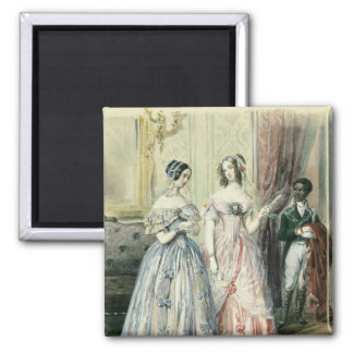 Leaving for the Ball, 1830-48 2 Inch Square Magnet