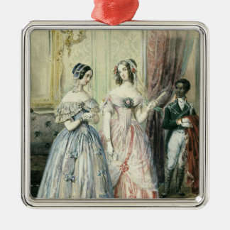 Leaving for the Ball, 1830-48 Metal Ornament