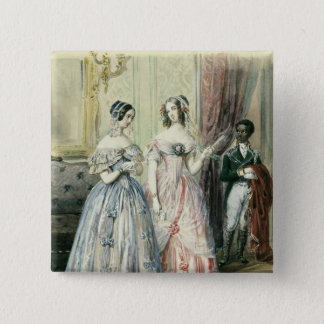 Leaving for the Ball, 1830-48 Pinback Button