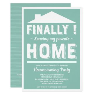 Leaving My Parents House Funny Housewarming Party Invitation