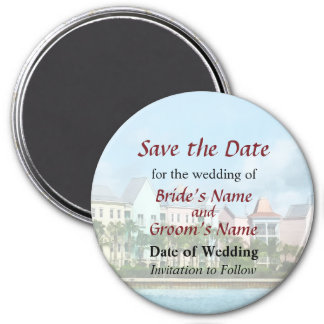 Leaving Paradise Island Save the Date Magnet