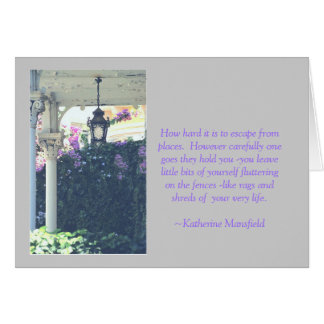 """""""LEAVING PLACES"""" QUOTE AND PHOTO PORCH, PEELING PA STATIONERY NOTE CARD"""