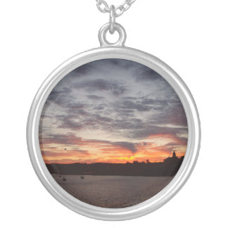 Leaving Port Townsend Silver Plated Necklace