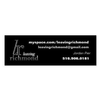 Leaving Richmond Profile Card Business Card Templates