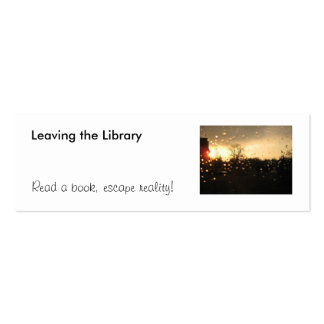Leaving the Library bookmark Double-Sided Mini Business Cards (Pack Of 20)