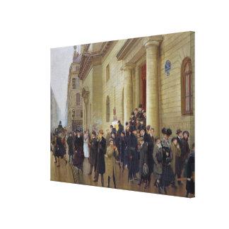 Leaving the Lycee Condorcet, 1903 Canvas Print