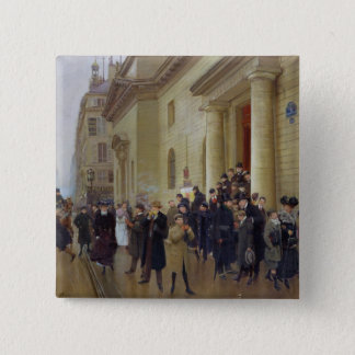 Leaving the Lycee Condorcet, 1903 Pinback Button