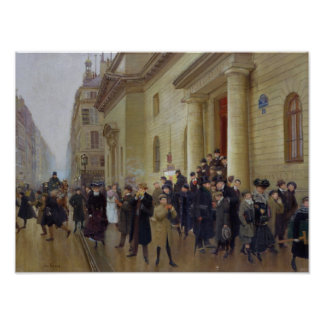 Leaving the Lycee Condorcet, 1903 Poster