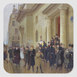Leaving the Lycee Condorcet, 1903 Square Sticker