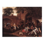 Leaving the Tavern by Jan Steen Post Cards