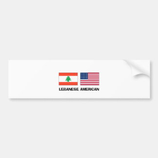 Lebanese American Car Bumper Sticker