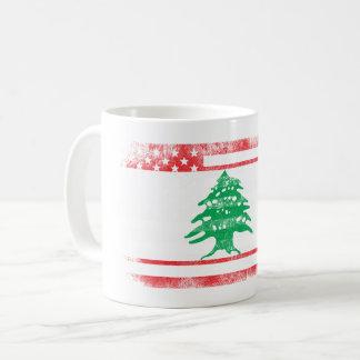 Lebanese American Flag   Lebanon and USA Design Coffee Mug