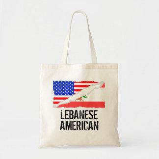 Lebanese American Flag Tote Bag