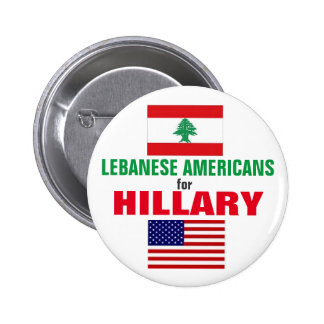 Lebanese Americans for Hillary 2016 Button