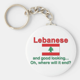 Lebanese and Good Looking Keychain