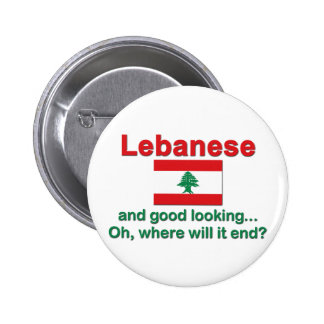 Lebanese and Good Looking Pinback Button