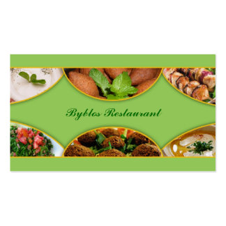 Lebanese Arabic Food Business Card