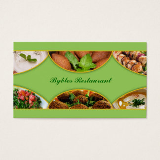 Lebanese/Arabic Food Business Card