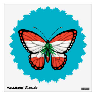 Lebanese Butterfly Flag Room Decal