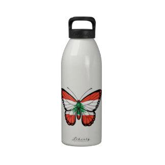 Lebanese Butterfly Flag Drinking Bottles