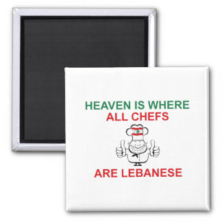 Lebanese Chefs 2 Inch Square Magnet