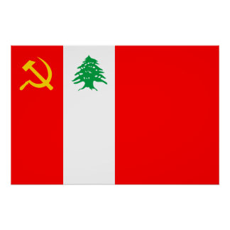 Lebanese Communist Party, Colombia Political flag Poster