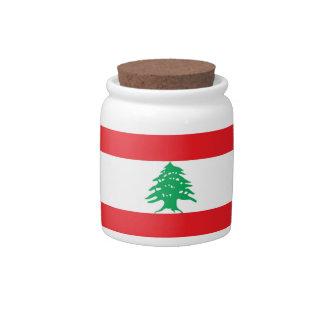 Lebanese Flag Candy Jar