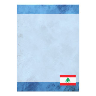 Lebanese flag card