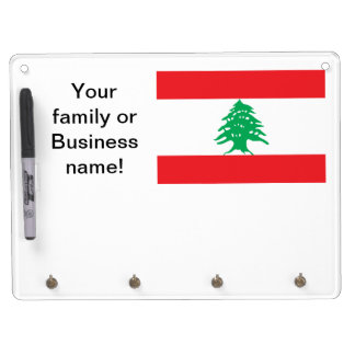 Lebanese Flag Dry Erase Board With Keychain Holder