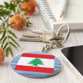Lebanese Flag Floating on water Basic Round Button Keychain