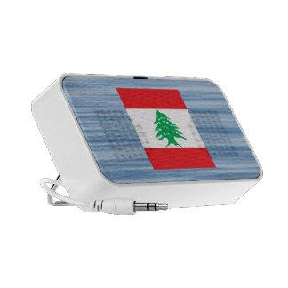 Lebanese Flag Floating on water Travelling Speaker