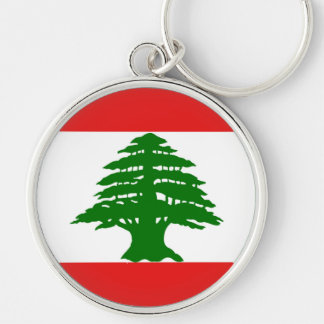 Lebanese Flag Key Ring