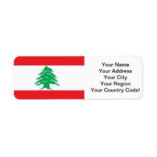 Lebanese Flag Return Address Label