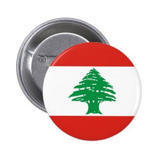 Lebanese Flag Pinback Button