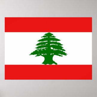 Lebanese Flag Poster