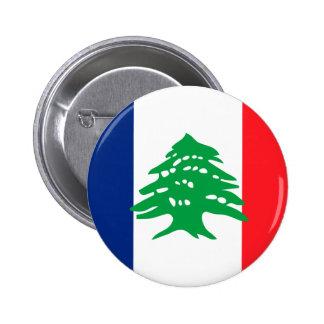 Lebanese French, Lebanon Pinback Button