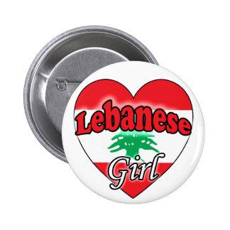 Lebanese Girl Pinback Buttons